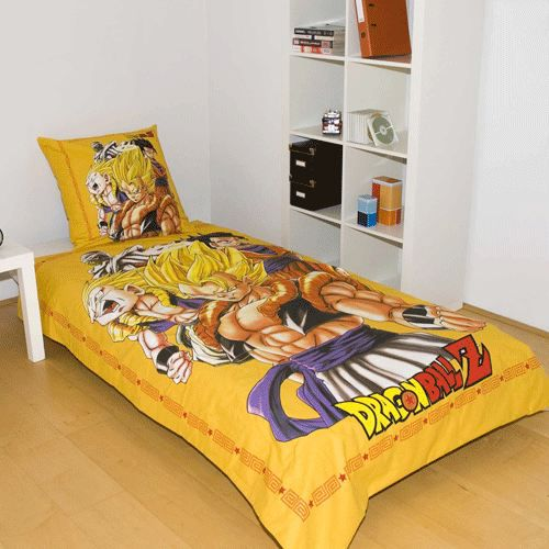 parure de lit dragon ball z achat vente parure de drap cdiscount. Black Bedroom Furniture Sets. Home Design Ideas
