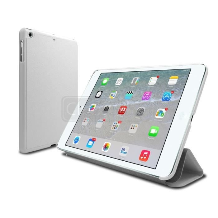 coque etui folio stand ipad mini 2 retina blanc prix pas cher cdiscount. Black Bedroom Furniture Sets. Home Design Ideas