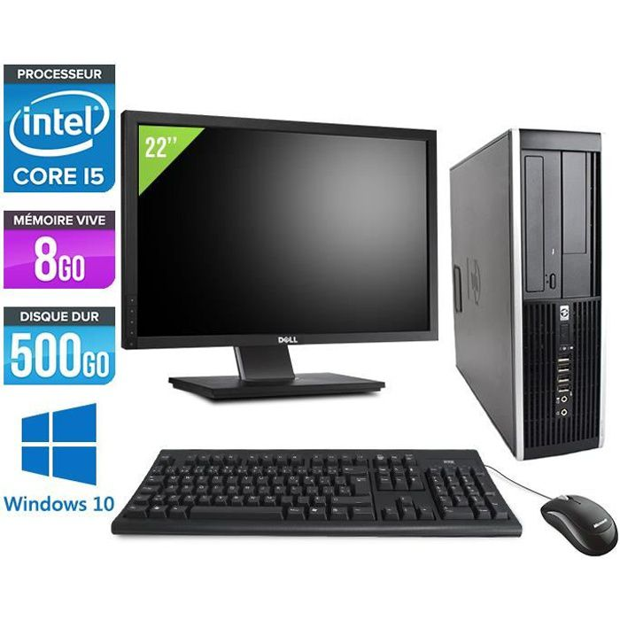 ORDI BUREAU RECONDITIONNÉ Pc de bureau HP 8200 - i5 2400 - 8 Go - Windows 10