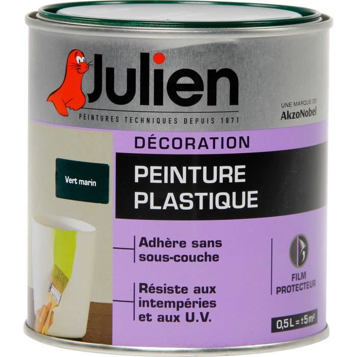 plastipeint julien vert marin achat vente peinture vernis cdiscount. Black Bedroom Furniture Sets. Home Design Ideas