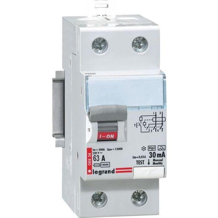 DISJONCTEUR LEGRAND Interrupteur différentiel 63A type AC
