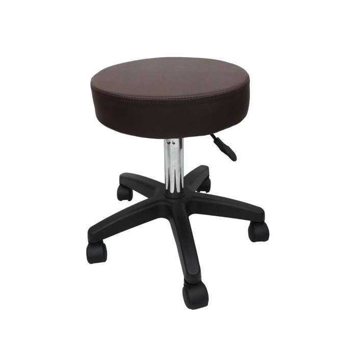 tabouret de bureau a roulettes tabouret de bar tabouret de massage tabouret osteopathe marron. Black Bedroom Furniture Sets. Home Design Ideas