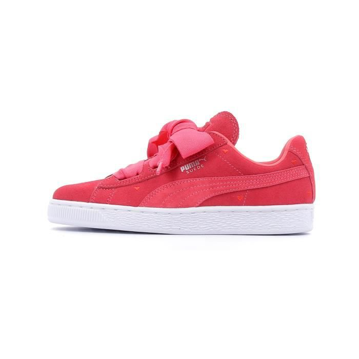 puma heart suede rouge