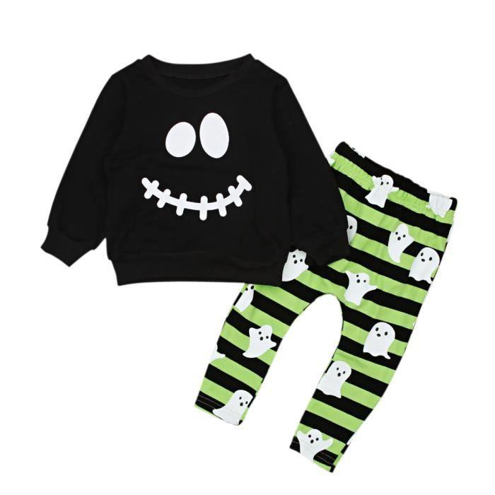 2pcs enfant bébé garçon vêtements à Rayures T Shirt Tops Pantalons Tenues Ensemble
