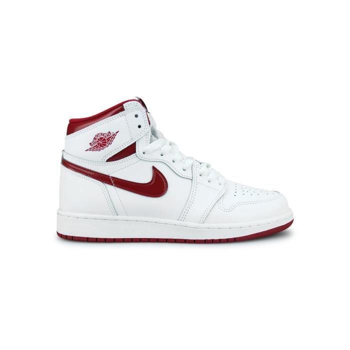 Basket Air Jordan 1 Retro High Og Junior Blanc 575441 103