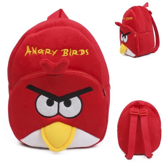 CARTABLE Cartoon Angry Birds enfants jouets en peluche sac