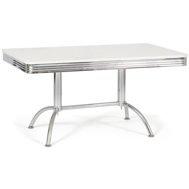 Table de bistrot rectangulaire westside chrome achat - Table bar rectangulaire ...