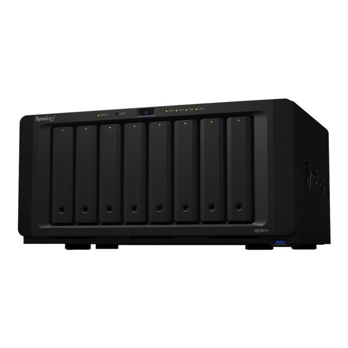 SERVEUR STOCKAGE - NAS  Synology Disk Station DS1817+ Serveur NAS 8 Baies