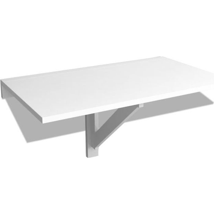 vidaxl table murale rabattable 100 x 60 cm blanc achat vente table de cuisine vidaxl table. Black Bedroom Furniture Sets. Home Design Ideas