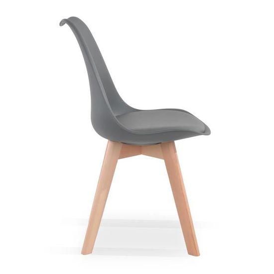 4 style Catherina Gris de chaises scandinave Lot sBoQtrhCxd