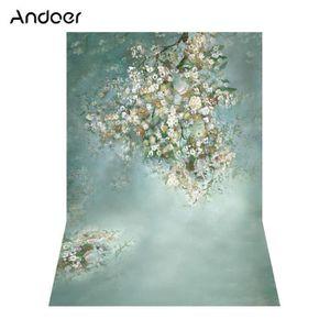 FOND DE STUDIO Andoer 1.5 * 2.1 m fleur blanche mur photographie