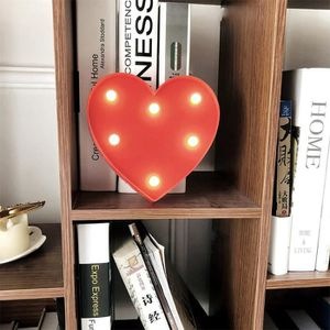 LAMPE A POSER Forme créative Coeur LED Night Light lampe à piles