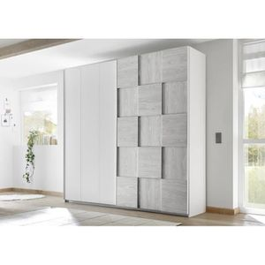ARMOIRE DE CHAMBRE Armoire SATORI gris 179 x 205 x 57 cm - Chambres a