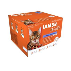 CROQUETTES IAMS Delights Land-Sea Collection In Gravy Croquet