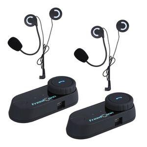 INTERCOM MOTO 2 pcs T-com BT Interphone Bluetooth Casque de Moto