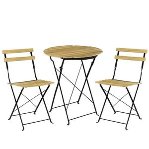 casa.pro]® Kit de bistro Set (Table + 2 Chaise) Meuble du ...