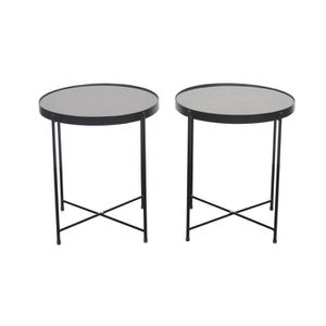 BOUT DE CANAPÉ By Demeyere « Alicia » lot de 2 tables basses rond