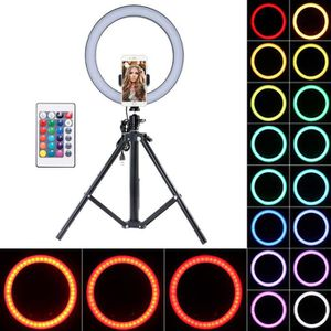 LAMPE ESCLAVE - FLASH 26CM RGB Ring Fill Light 1.6M Trépied télescopique