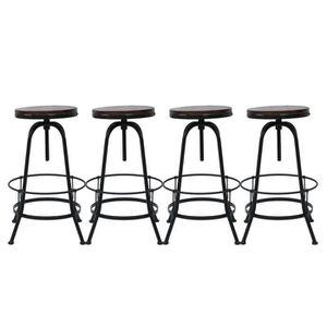 TABOURET DE BAR Lot de 4 tabourets de bar industriel Vintage haute