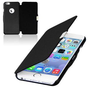 COQUE - BUMPER Coque iPhone 6/6S Rabat Magnétique Noir
