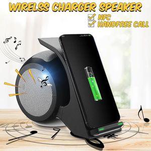 ENCEINTE NOMADE NEUFU Qi Wireless Chargeur Rapide Haut Parleur Blu