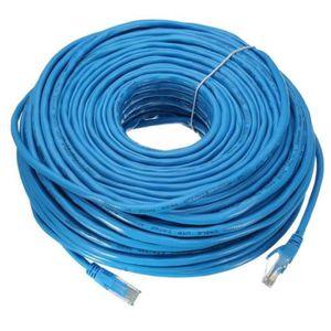 CÂBLE RÉSEAU  NEUFU Câble Réseau 50M/164Ft RJ45 CAT6 Ethernet LA