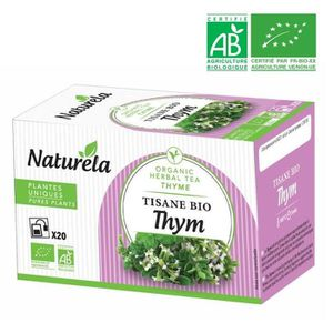 THÉ Naturela Infusion Thym Infusettes 20 x 1,5g Bio