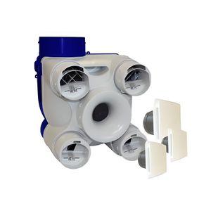 VMC - ACCESSOIRES VMC Kit VMC simple flux 3 bouches-auto deco- UNELVENT