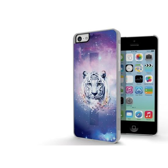 coque iphone 5c swag series white tiger