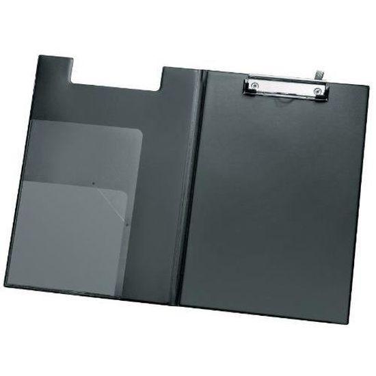 Lot de 5 pinces transparentes A4 en polypropyl/ène avec mesure clip en m/étal et plaque m/étallique Vert