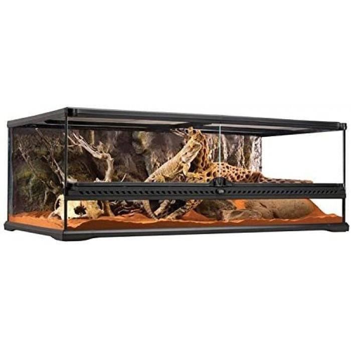 Taille: 90 x 45 x 30 cm Terrarium En Verre Pour Reptiles Et Amphibiens 90 X 45 X 30 Cm