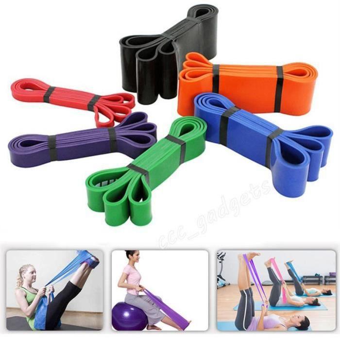 Tubes de latex à pilates élastiques à résistance à l& 39exercice pour Gym Yoga Fitness Workout Color:purple , Size: