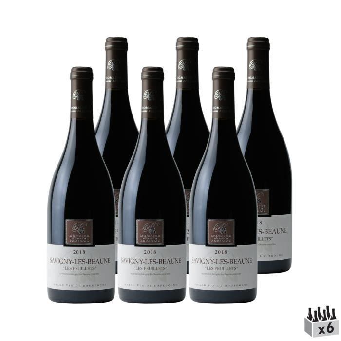 Savigny-lès-Beaune Les Peuillets Rouge 2018 - Lot de 6x75cl - Domaine Parigot Père et Fils - Vin AOC Rouge de Bourgogne