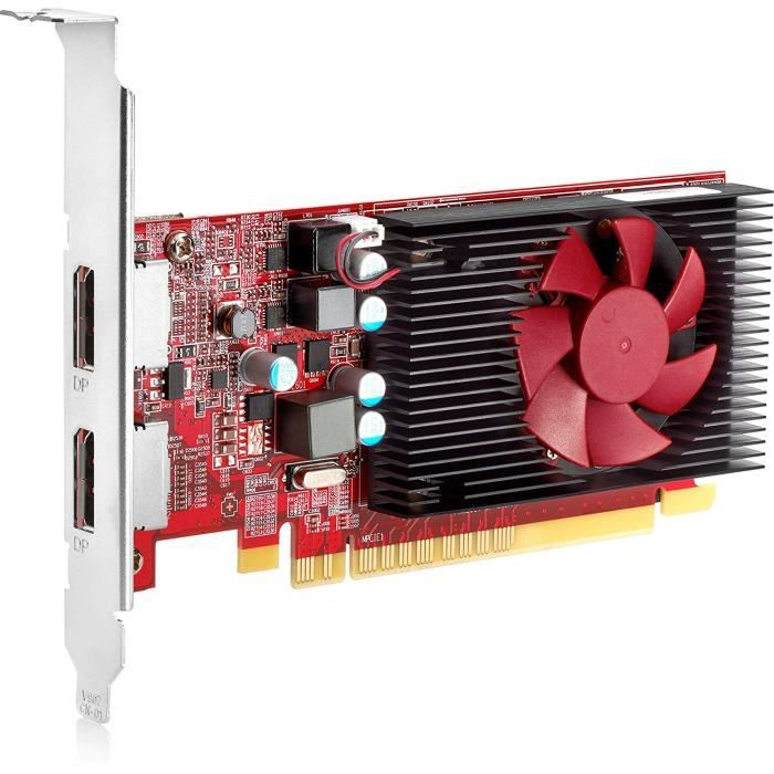 HP Carte Graphique AMD Radeon R7 430 2 Go LP 2DP PCIe x16 - Cartes Graphiques (Radeon R7 430, 2 Go, GDDR5, 4096 x 2160 Pixels, PC