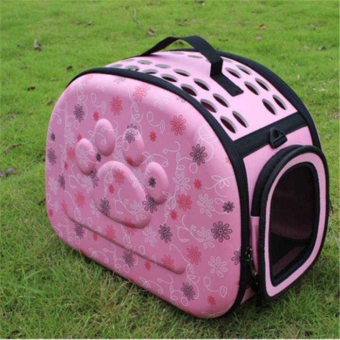 Sac pour animaux de compagnie Sac à dos pour chat Sac pour chien Sac pour animaux de compagnie EVA Sac d'emballage pliant- rose*CD2