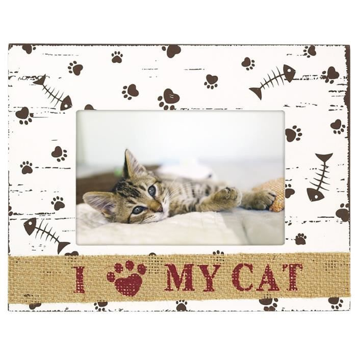 I LOVE MY CAT Cadre photo 10x15 cm bois