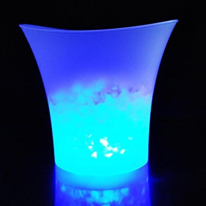 Rafraichisseur vin,Barres à seau à glace en plastique, étanches, pour boîtes de nuit, Champagne, livraison directe l - Type Bleu