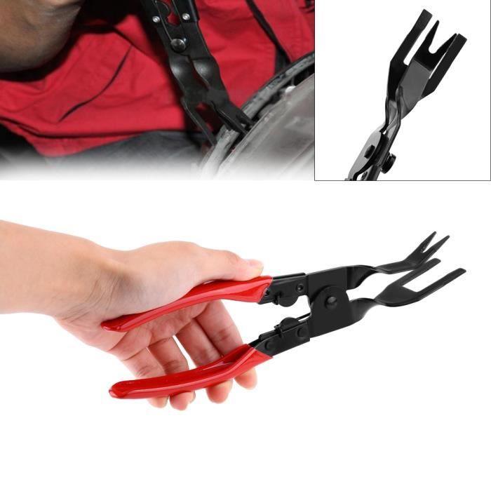 2Pcs Outil Démontage Garniture Kit Outils pour Panneau-Porte de voiture Pince de retrait de clip -VIQ