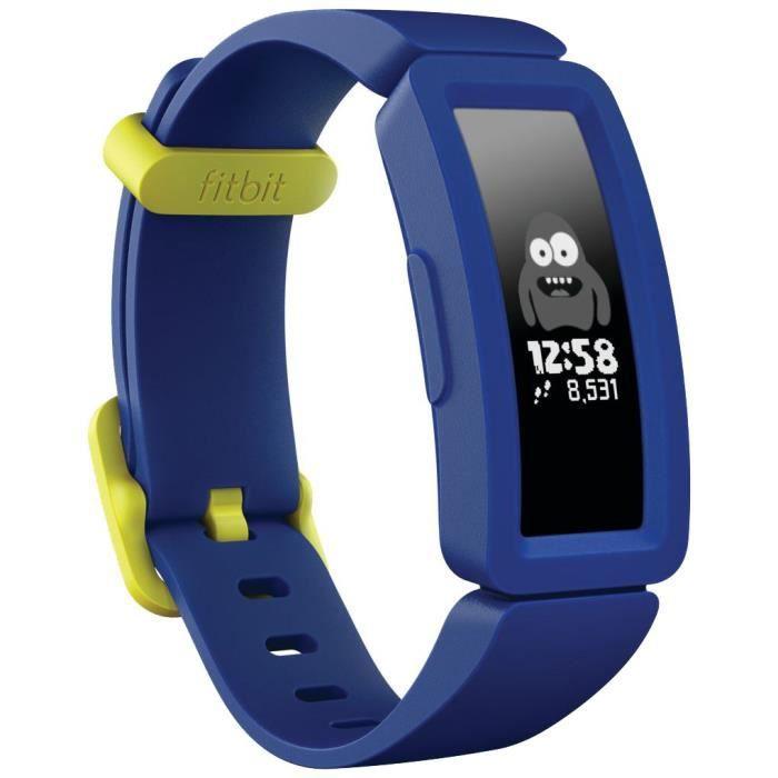FITBIT Ace 2 - Bracelet d'activité junior à partir de 6 ans - Bleu et jaune
