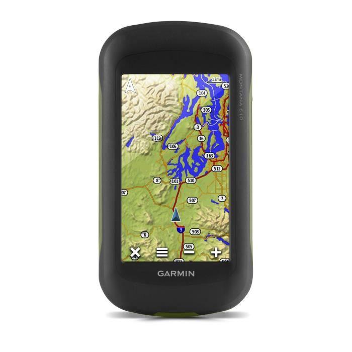 Garmin - Montana 610 - GPS portable multi-activités (Randonnée, Auto, Moto, Quad et Marine) - Grand écran tactile 4 ''