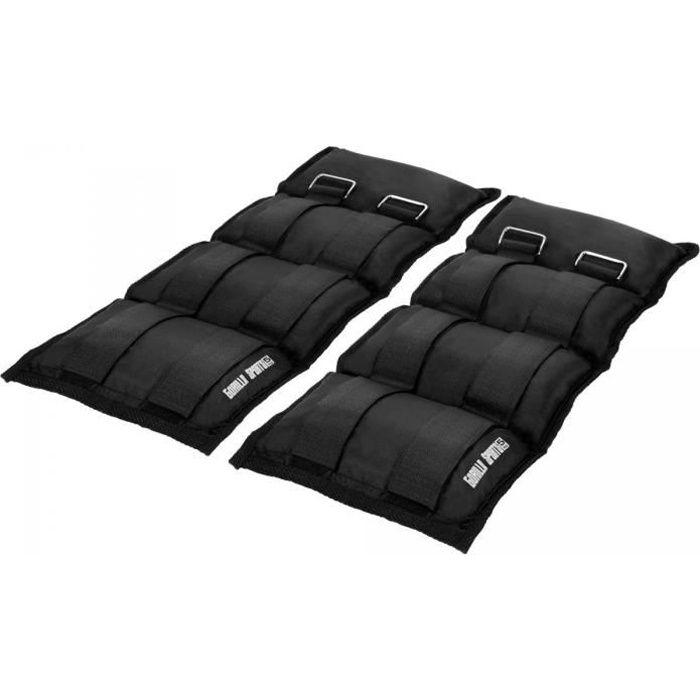 Gorilla Sports - Bandes lestées pour poignets ou chevilles - 2x5kg