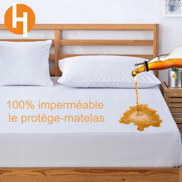 Protège Matelas imperméable 90*200cm Drap Housse Hypoallergénique HAIRICH, Hautement Respirant,Antiacarien,Antibactérien  by S