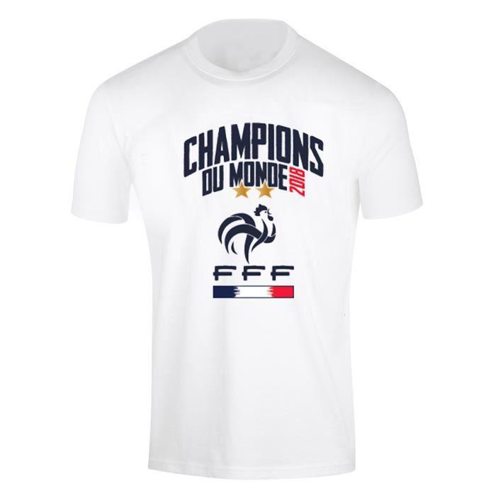 FFF - T-shirt Equipe de France - Champion du Monde 2018