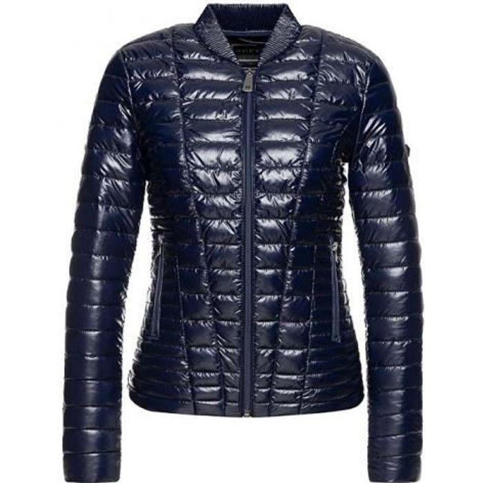 Guess Femme Doudoune Effet Cintré W94L1D VERA Rouge Fuschia Bleu Sombre - Taille - XS