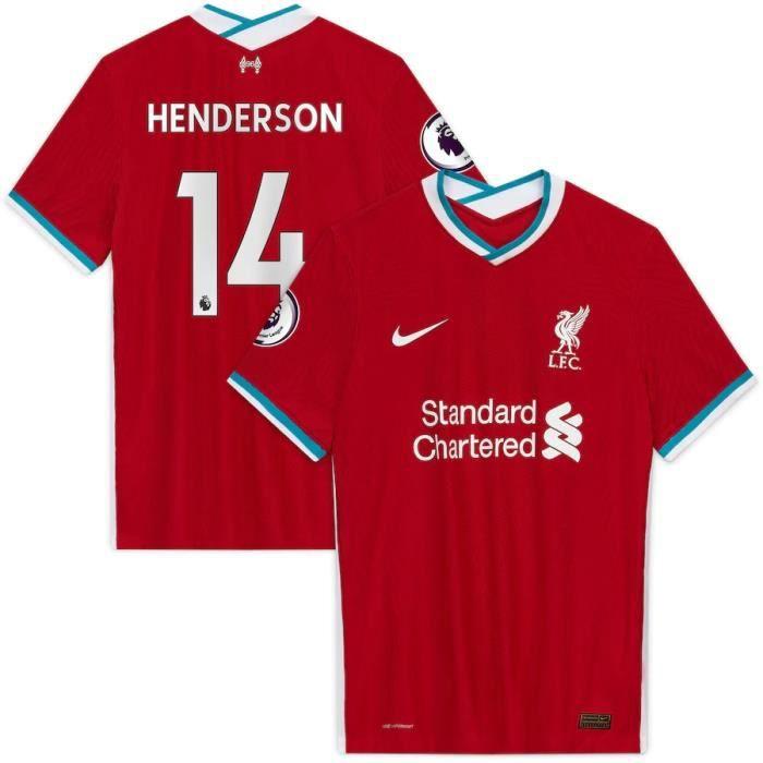 Nouveau Maillot Domicile Liverpool Maillot de Foot 14 Jordan Henderson 2020 2021 Pas Cher pour Homme