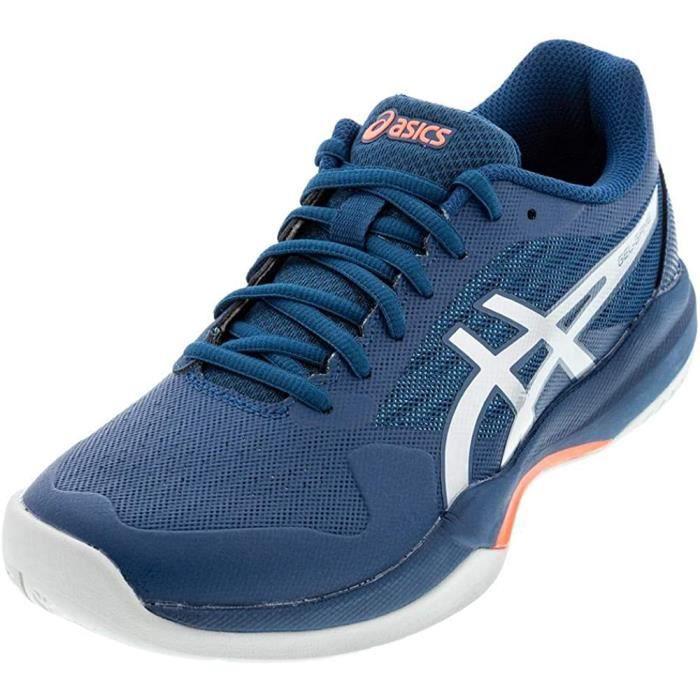 ASICS Gel-Jeu 7 - Chaussures De Tennis Hommes, Bleu (Bleu / Argenté Pur ), 43 Ue