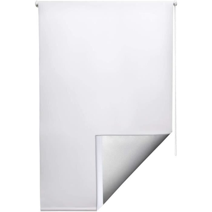 Sol Royal Store enrouleur occultant et isolant thermique 60x160cm Blanc - SolReflect T42 - Montage simple