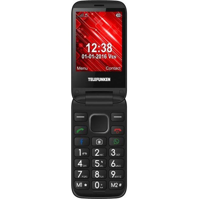Telefunken Cosi TM360 3G Rouge Téléphone à clapet connecté pour senior