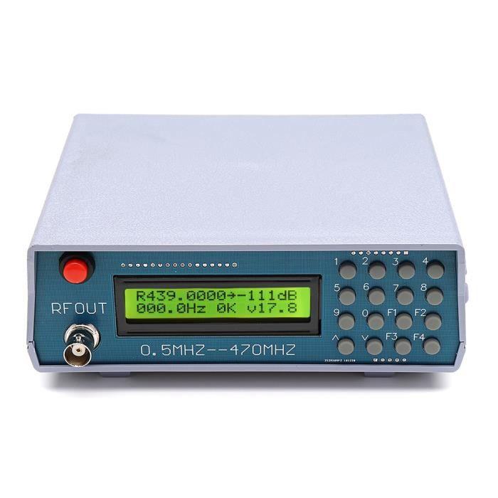 0.5 Mhz-470 Mhz RF Testeur de compteur de générateur de Signal pour débogage radio talkie-walkie radio FM