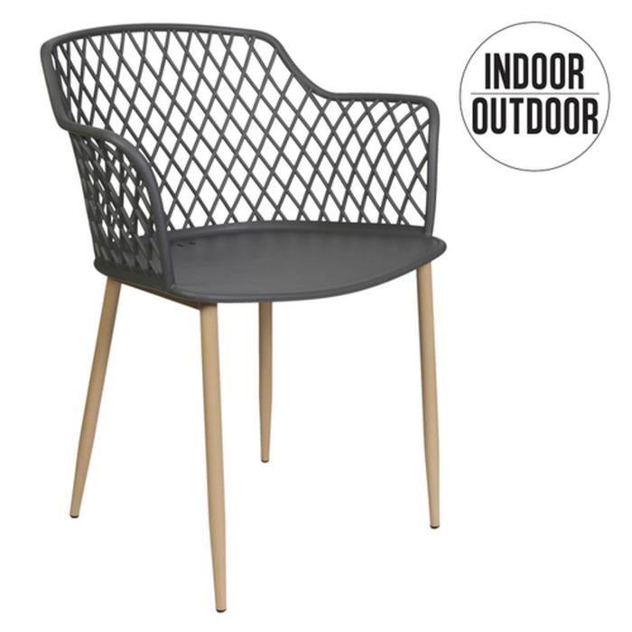 Fauteuil pour table de jardin design Malaga - Gris
